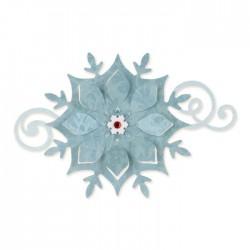 Fiocco di Neve Fustella Sizzix Bigz Die - Snowflake Ornament 658740