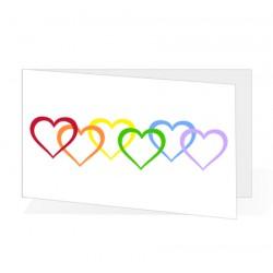 Bigliettini Rainbow Unioni Civili - Matrimonio Personalizzati