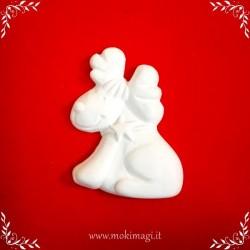 Renna di Babbo Natale - Gessetto Tema Natalizio