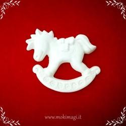 Cavallo a Dondolo Natale - Gessetto Tema Natalizio
