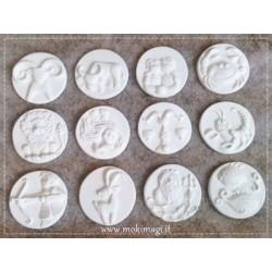 Segni Zodiacali - Gessetti Profumati in ceramica bianca