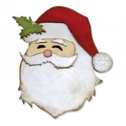 Babbo Natale - Fustella Sizzix Bigz Die - St. Nick 660051 Fustelle Natalizie