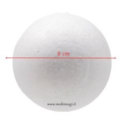 Sfera di Polistirolo - Palla di Polistirolo da Decorare 8cm