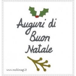 """Auguri di Buon Natale"" -  Fustella Sizzix Thinlits 6 pezzi 662156"