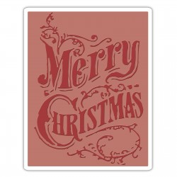 Texture Fades Embossing Folder - Christmas Scroll Fustella Sizzix Embossing 661609