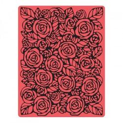Texture Fades Embossing Folder - Roses Sizzix Fustella Embossing Rose 661829