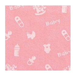 Pannolenci Rosa Baby Tramato - Foglio 30x40 cm