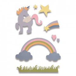 Fustella Unicorno Sizzix Thinlits Die Set - Magical Unicorn 662096