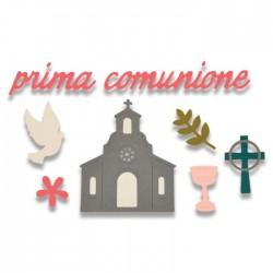 Fustelle Sizzix Thinlits Die Set 9PK - Prima Comunione (First Communion) 662116