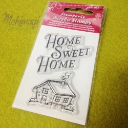Timbro acrilico Home Sweet Home 5x7cm - Stamperia WTK059