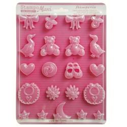 Stampo soggetti Baby Stampo morbido formato A4 - Baby K3PTA447 Stamperia