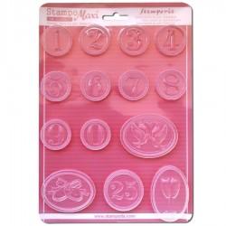 Stampo Numeri e Matrimonio Stampo morbido formato A4 - Wedding Stamperia K3PTA445
