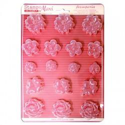Stampo Fiori, rose e coccinelle - Stampo morbido f.to A4 - Fiori e coccinella - Stamperia K3PTA414