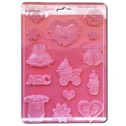 Stampo Nascita Baby - Stampo morbido f.to A4 - Baby - Stamperia K3PTA441