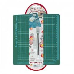 Tappetino da Taglio + Taglierino per Decoupage - Stamperia KRT01