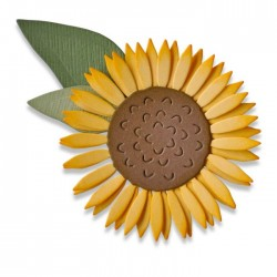 Fustella Girasole Sizzix Thinlits Die Set 4PK - Sunflower 662508