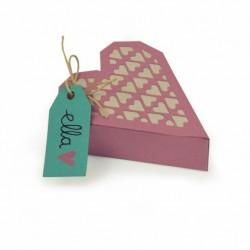 Fustella Scatolina a forma di Cuore Sizzix Thinlits Die Set 4PK - Heart Box 662518