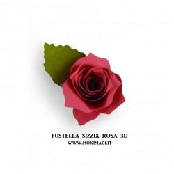Fustella 661750  - Sizzix Bigz Die - 3-D Rose - Rosa grande 3D