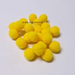 Pompon Gialli 70 pezzi per confezione 1,5cm