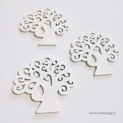 Albero Della Vita Bianco in legno - Accessori Decorativi 3 pezzi