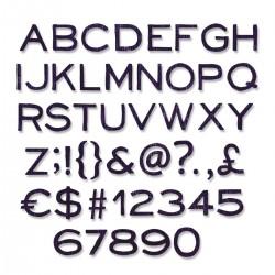 121 Fustelle Alfanumeriche Sizzix Thinlits Die Set - Alphanumeric, 662226 Alfabeto e Numeri