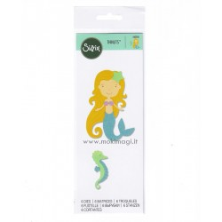 Sizzix Thinlits Die Set 6PK - Sirena - Mermaid Fustella Sirenetta 663026