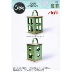 Lanterna con Stella e Finestre Sizzix Fustella Bigz 663001 - Sizzix Movers & Shapers L Die