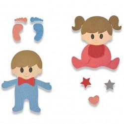 Sizzix Bigz L Die - Baby 662629 Fustella bambini e piedini
