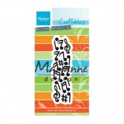 Fustella Note Musicali Marianne Design CR1367 Music Craftables Fustella Musica
