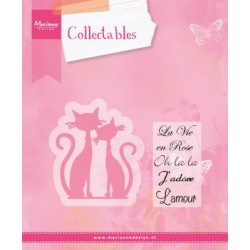Fustella Gatti FRENCH CATS Marianne Design Collectables COL1344