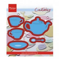 Fustella TEA FOR YOU LR0462 Marianne Design Creatables Fustella Teiera e Tazzine