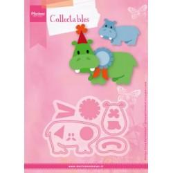 Fustella Ippopotamo Marianne Design Collectables COL1450 ELINE'S HAPPY HIPPO