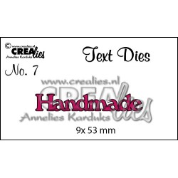 "Fustella ""Handmade"" - Crealies - Fustella testo CLTD07"