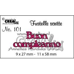 """Fustella """"Buon Compleanno"""" - Crealies - Fustella testo CLFS101"""