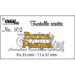 """Fustella """"Buona Pasqua"""" - Crealies - Fustella testo CLFS102"""