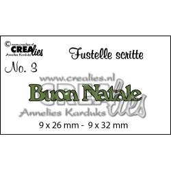 """Fustella """"Buon Natale"""" - Crealies - Fustella testo CLFS03"""