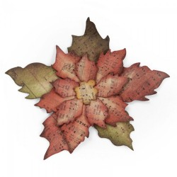 Stella di Natale - Fustella Sizzix Bigz Die - Tattered Poinsettia 658261