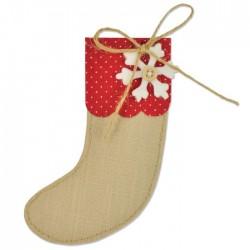 Calza della Befana - Fustella Sizzix Bigz Die - Christmas Stocking 661297 - Natale