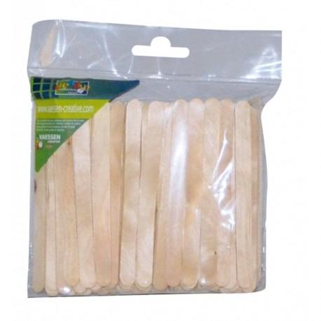 100 x Bastoncini di Legno - Lollipop Sticks 10x114mm