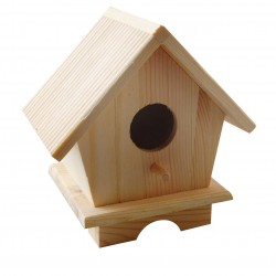 Casetta Uccellini in Legno -  13x9x13cm Wood pine birdhouse