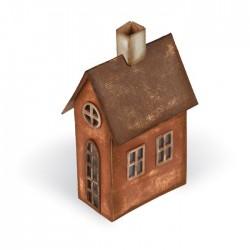 Fustella Casa 3D - Fustella Sizzix Bigz XL Village Brownstone 661205 Fustella Casetta 3D