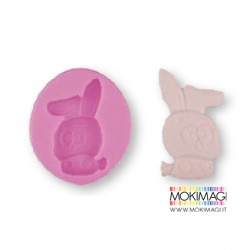 Stampo Coniglio per Gessetti, Polvere di Ceramica, Sapone, ecc...7,6x6,5x1,2cm Stampo coniglio silicone Pasqua