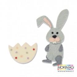 Fustella Coniglietto Bunny Sizzix Bigz Die - 662997 Fustella Coniglio con uovo Fustella Pasqua