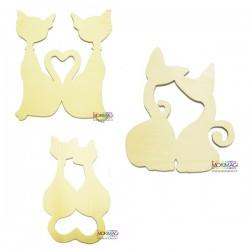 Gatti - Sagome di Legno - Gatti in Legno 3 Modelli Diversi