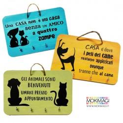Appendichiavi con Frasi Cane e Gatto - Amici a 4 zampe