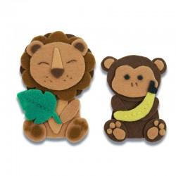 Fustella Leone e Scimmia Sizzix Bigz L Die - Jungle Animals 663493 Fustella Animali della Giungla