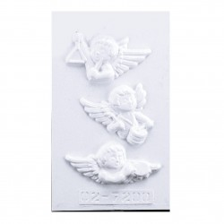 Stampo Angeli per Gessetti, Polvere di Ceramica, ecc... Stampi 3 Angeli