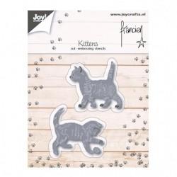 Fustella Metallica Gattini Joy!Crafts Franciens kittens 6002/1126