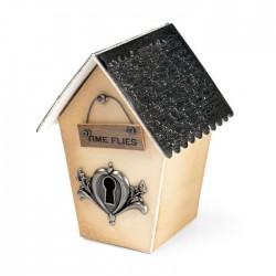 Fustella Casetta Uccellini Scatolina 3D Sizzix ScoreBoards XL Die - Birdhouse, 3-D 658451