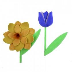 Fustella Fiori di Primavera - Sizzix Bigz L Die - Spring Flowers 663491